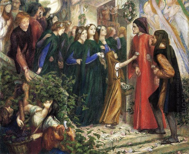 Beatrice Meeting Dante At A Wedding Feast Denies Him Her Salutat