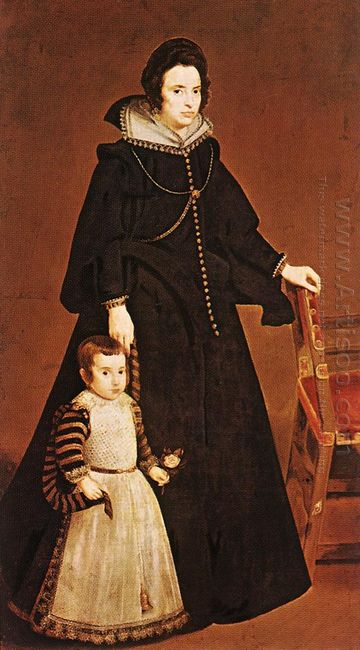 Dona Antonia De Ipenarrieta Y Galdos And Her Son