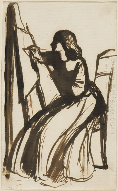 Elizabeth Siddal Seated At An Easel 1852