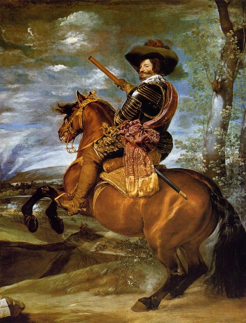 Equestrian Portrait Of Don Gaspar De Guzmancount Duke Of Olivare