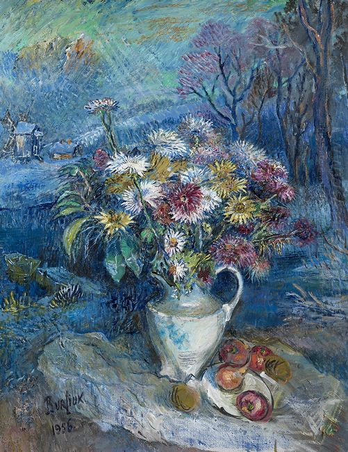 Flowers In White Vase 1956