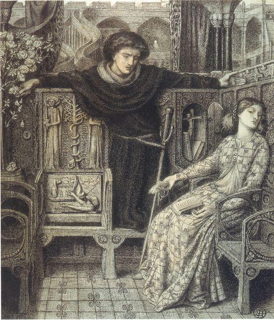 Hamlet And Ophelia 1858