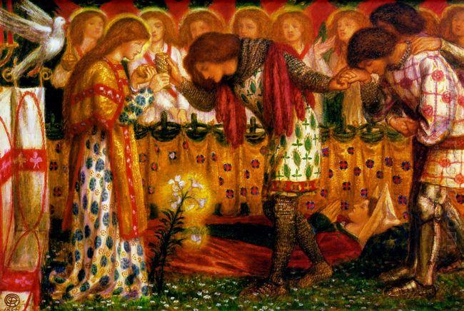 How Sir Galahad Sir Bors And Sir Percival Were Fed With The Sanc