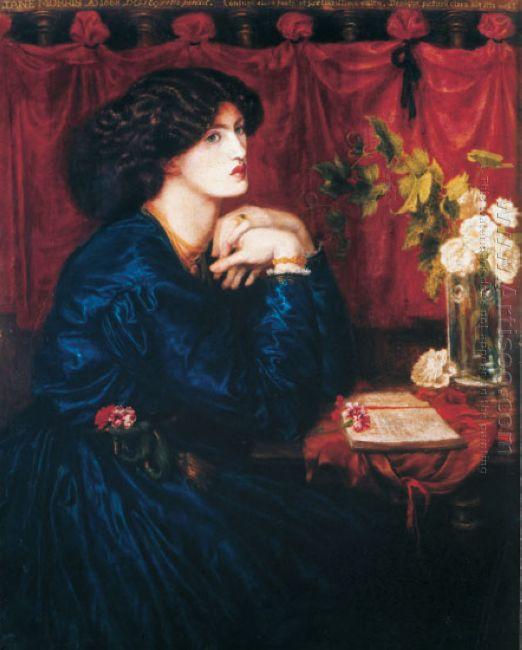 Jane Morris The Blue Silk Dress 1868