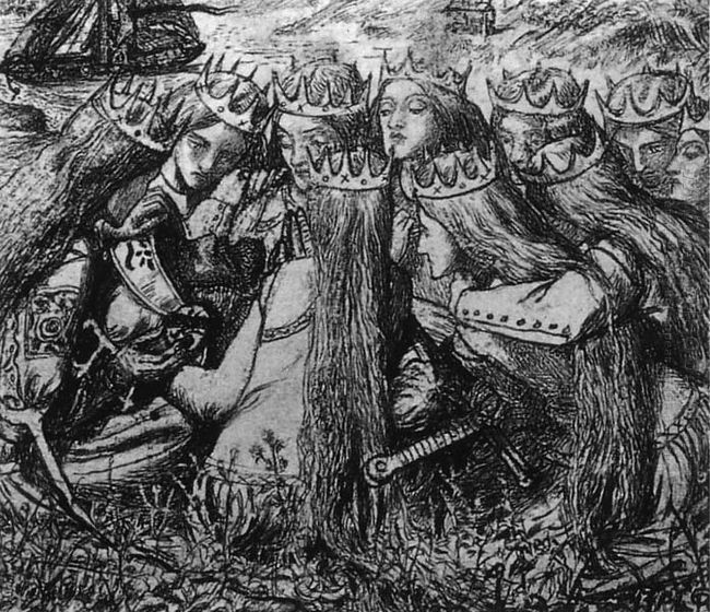 King Arthur And The Weeping Queens 1857
