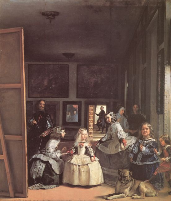 Las Meninas Detail Of The Lower Half Depicting The Family Of Phi