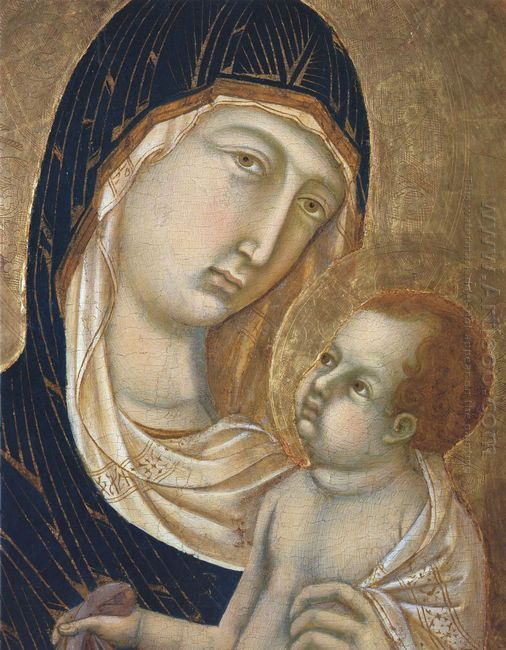Madonna And Child Fragment 2
