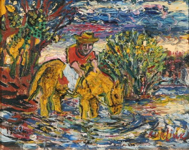 Man On A Yellow Horse 1950