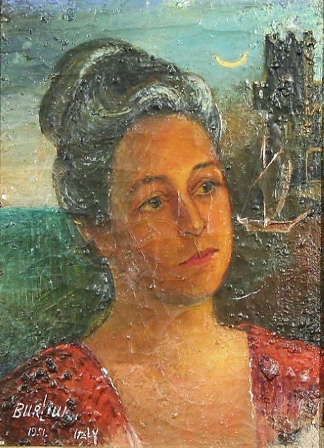 Portrait By The Castle Under Moonlight 1951