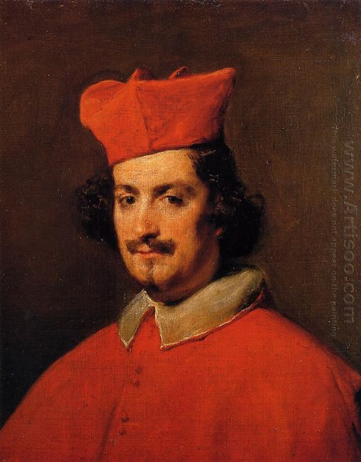 Portrait Of Cardinal Camillo Astali Pamphili 1650