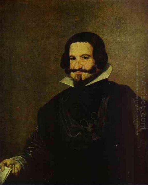 Portrait Of Caspar De Guzman Count Of Olivares Prime Minister Of