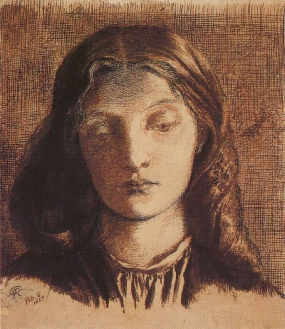 Portrait Of Elizabeth Siddal 1855