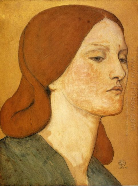 Portrait Of Elizabeth Siddal 1865