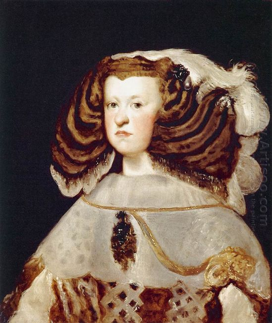 Portrait Of Mariana Of Austria Queen Of Spain 1657