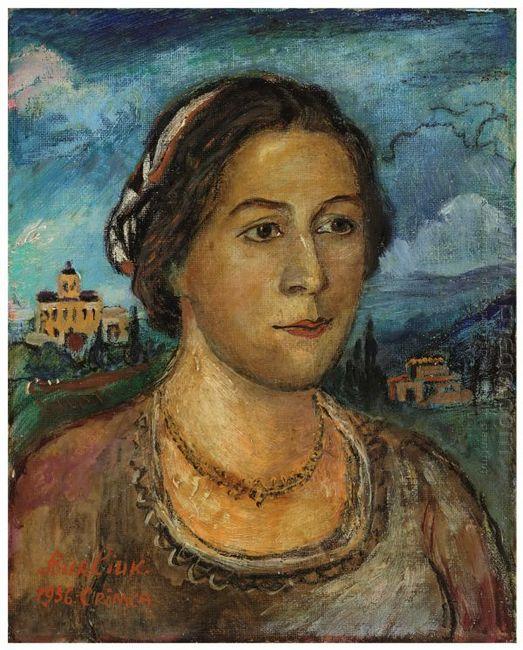 Portrait Of Marussia Burliuk 1956
