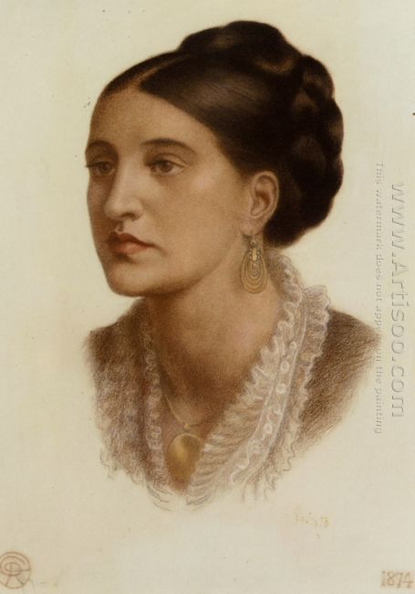 Portrait Of Mrs Georgin A Fernandez 1874