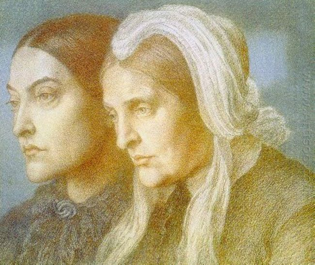 Portrait Of The Artist S Sister Christina And Mother Frances 187