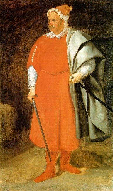 Portrait Of The Buffoon Redbeard Cristobal De Castaneda 1640