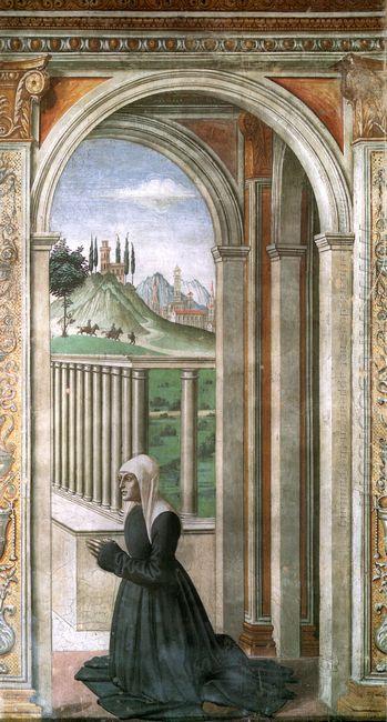 Portrait Of The Donor Francesca Pitti Tornabuoni 1490