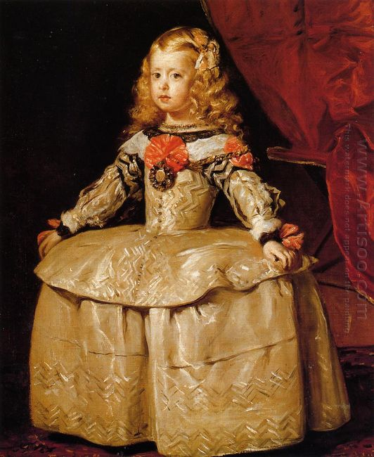 Portrait Of The Infanta Margarita Aged Five 1656