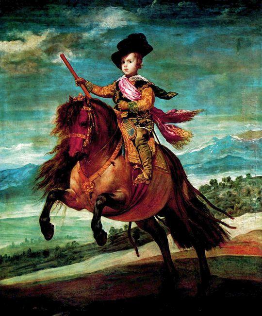 Prince Balthasar Carlos On Horseback 1635