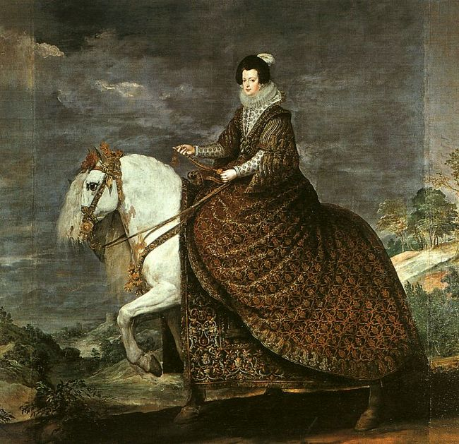 Queen Isabel Of Bourbon Equestrian 1635