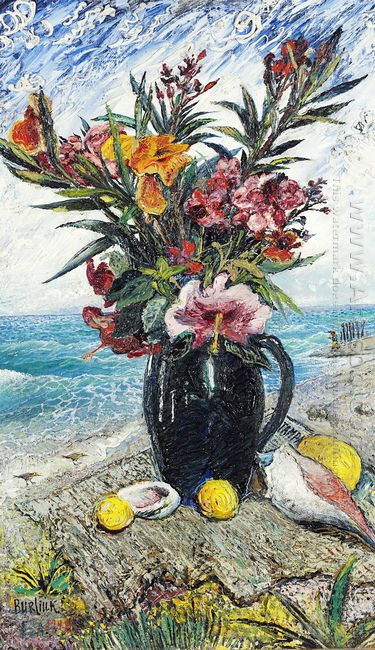 Still Life With Flowers By The Sea 1948
