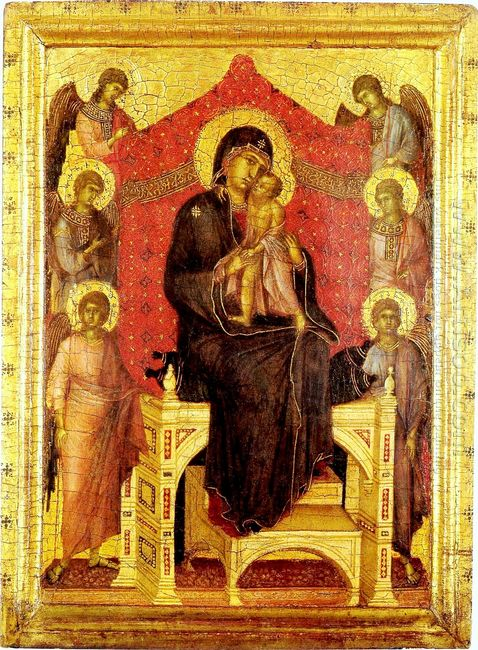 The Madonna And Child With Angels 1307