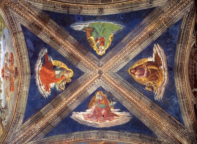 Vaulting Of The Tornabuoni Chapel 1490