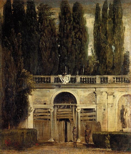 Villa Medici In Rome Facade Of The Grotto Logia 1630