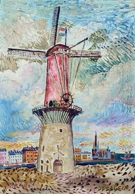Windmill In Rotterdam 1955