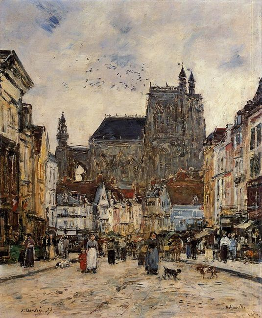 Abbeville Street And The Church Of Saint Vulfran 1884