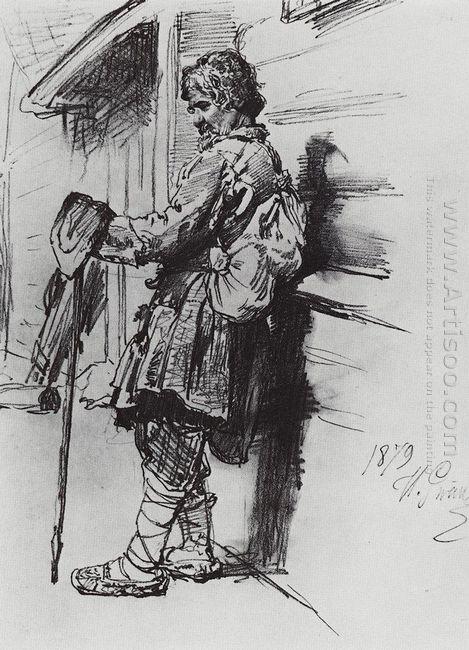 A Beggar With A Bag 1879