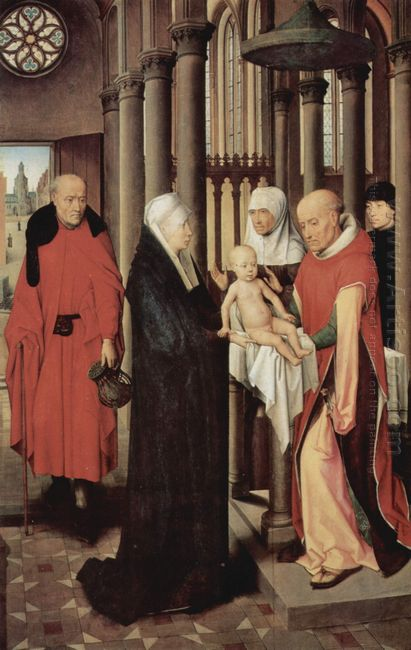 Adoration Of The Magi Right Wing Of Triptych Depicting The Prese