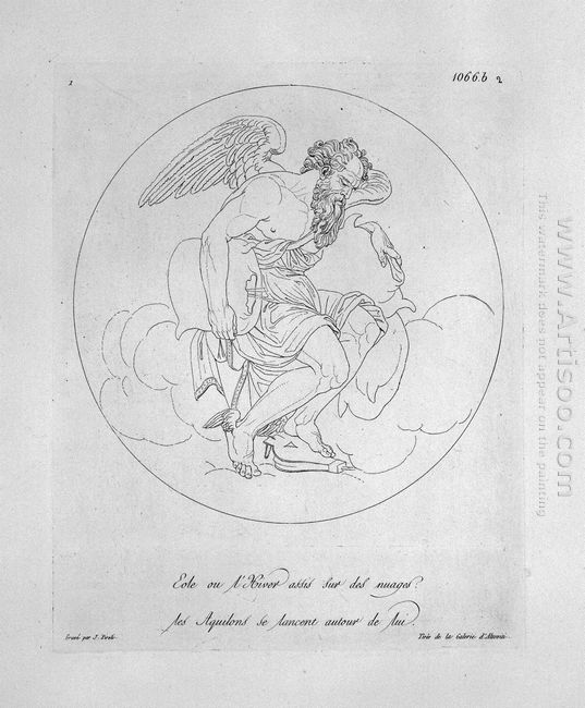 Aeolus Seated On Clouds