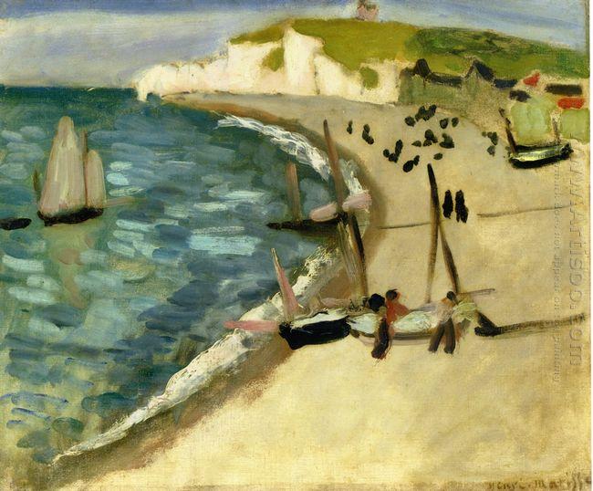 Aht Amont Cliffs At Etretat 1920