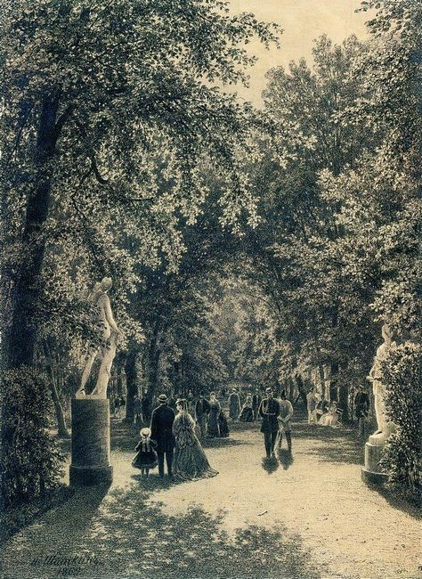 Alley Of The Summer Garden In St Petersburg 1869
