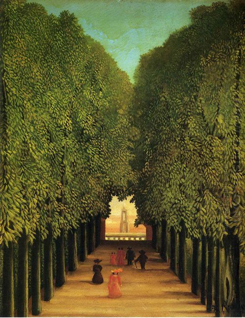 Alleyway In The Park Of Saint Cloud 1908