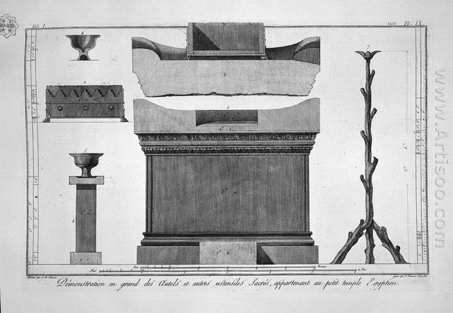 Altar And Sacred Furnishings Of The Egyptian Temple