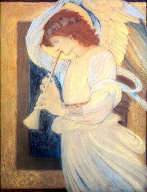 An Angel Playing A Flageolet 1878