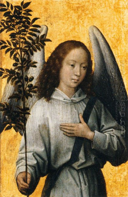Angel Holding An Olive Branch 1480