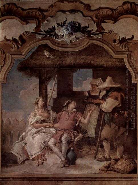 Angelica And Medorus Accompanied By Two Peasants 1757