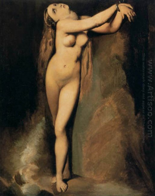 Angelica At The Rock After Ingres 1878