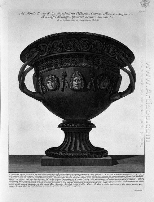 Antique Vase Of Basalt Found On The Quirinal In 1772