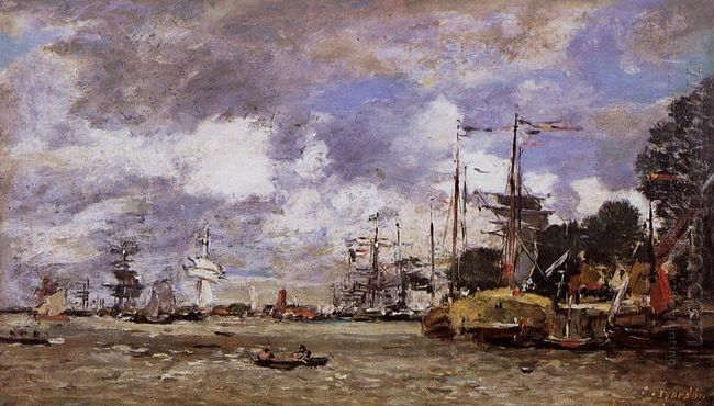 Antwerp Boats On The River Escaut 1