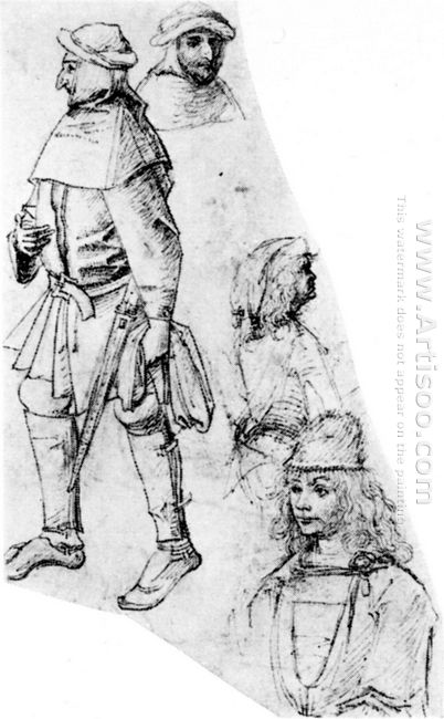 A Peasant And Three Bustlength Figures 1515