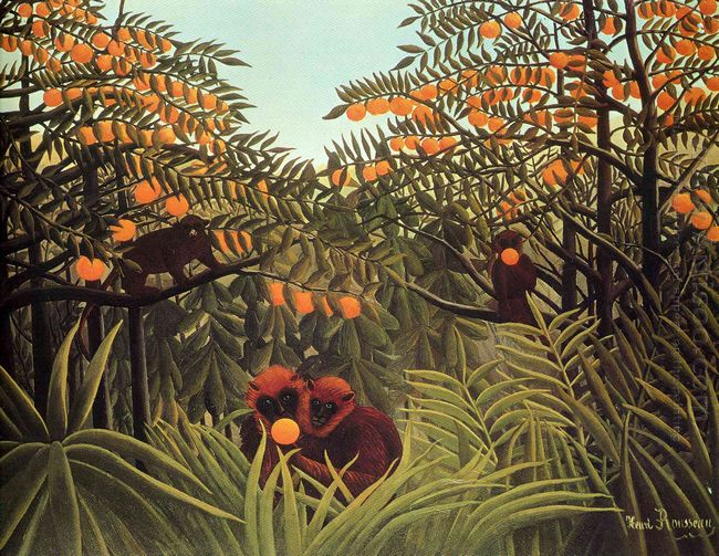 Apes In The Orange Grove