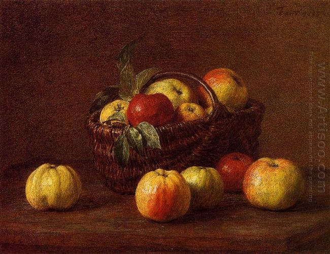 Apples In A Basket On A Table 1888