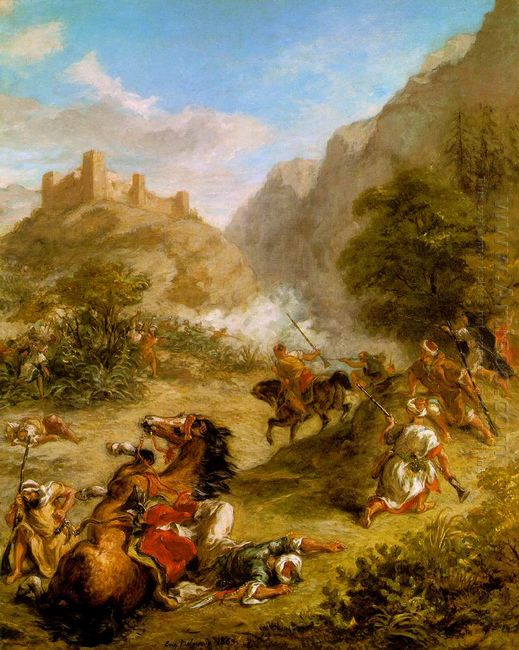 Arabs Skirmishing In The Mountains 1863