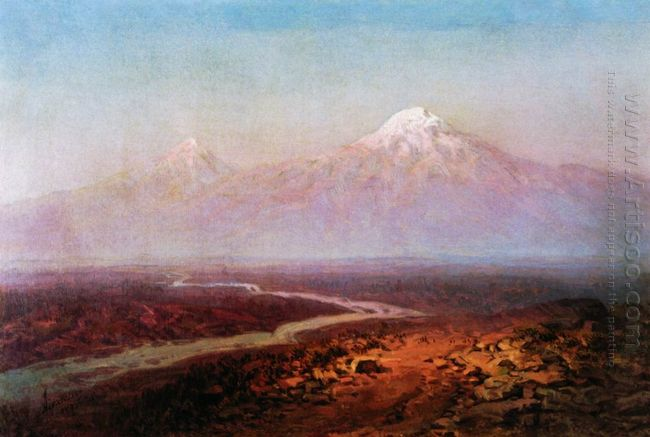 Araks River And Ararat 1875